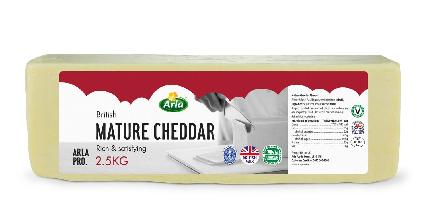 Arla Red Tractor Mature White Cheddar