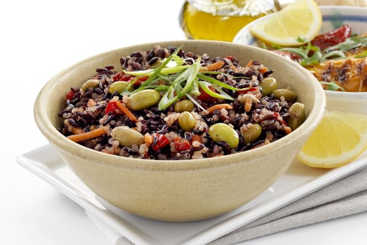 Black Rice Quinoa and Ginger