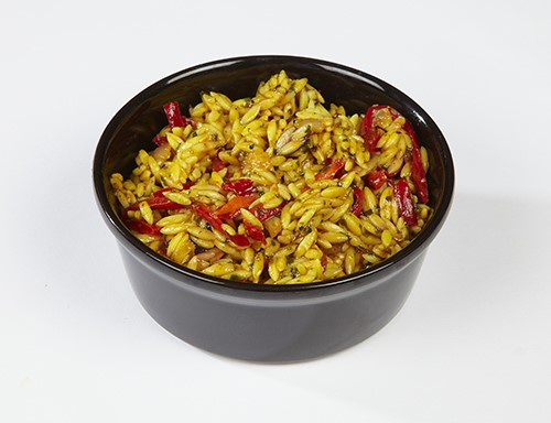 Orzo Pasta  & Red Peppers